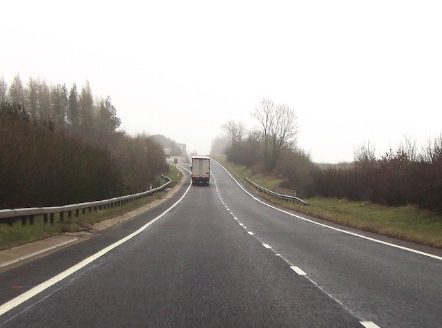 A417 layby just north of Quarry junction