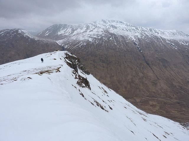 On the ridge overlooking Gleann Gnìomhaidh