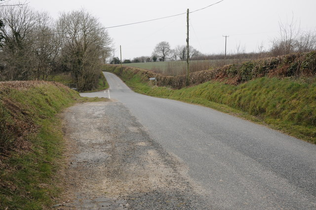 Road junction near Llandissilio