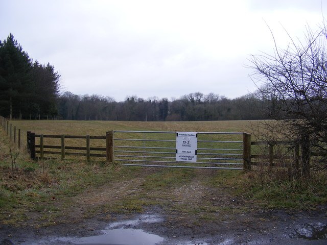 Field entrance off Bow Hill