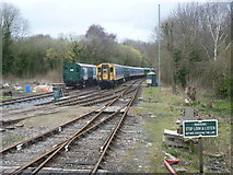 TR2548 : Carriage stock at Shepherdswell station by Marathon