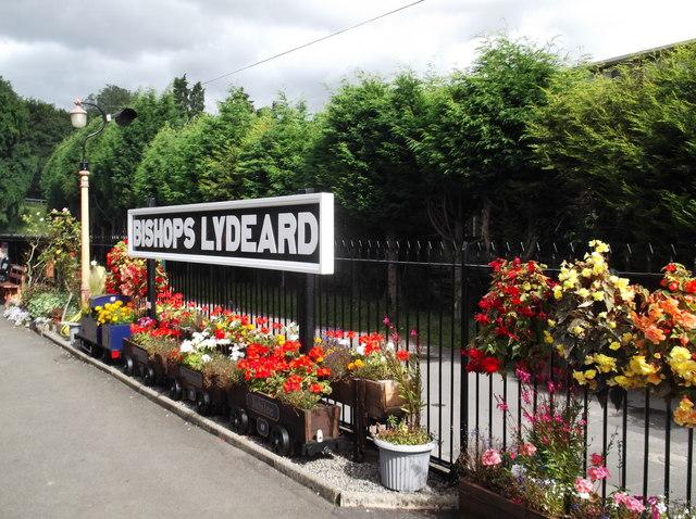 Bishops Lydeard station sign