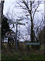 TG1208 : Roadsigns on Church Road by Adrian Cable