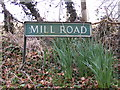 TG1208 : Mill Road sign by Geographer