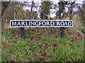 TG1509 : Marlingford Road sign by Adrian Cable