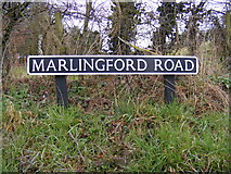 TG1509 : Marlingford Road sign by Geographer