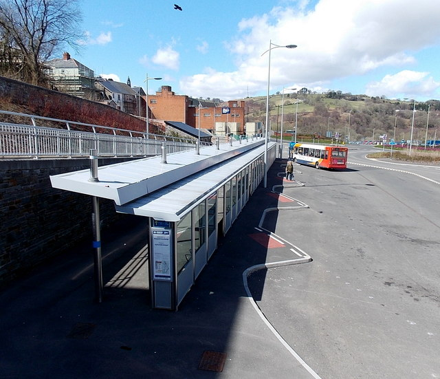 Bargoed's new bus station