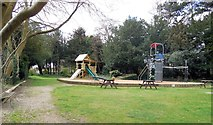 SP8633 : Children's play area, Bletchley Park by Paul Gillett