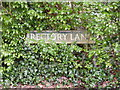 TG2702 : Rectory Lane sign by Adrian Cable