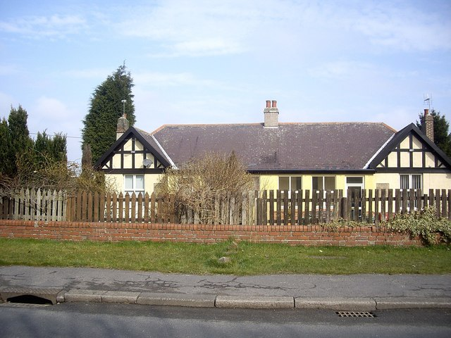 A pair of semi-detached Aged Miners' Homes