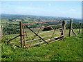 SO2902 : Field gate topped with barbed wire north of Pontypool by Jaggery