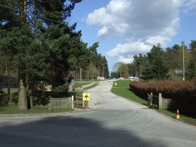 Entrance to Birches Valley Forest Centre