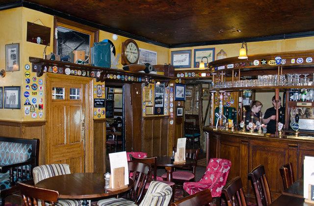 The Eagle pub, Cambridge - interior