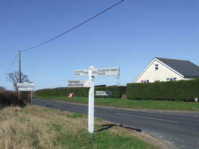 Road junction at Salcott-cum-Virley