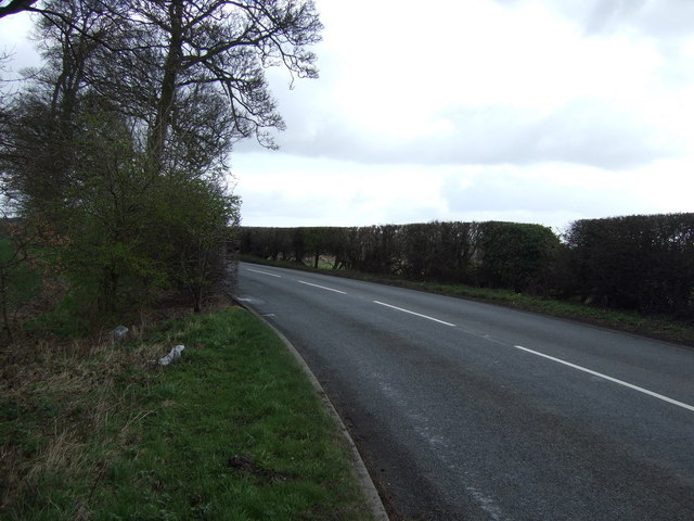 A bend in the B5013