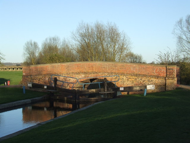Canal bridge and lock gates, Chelmsford