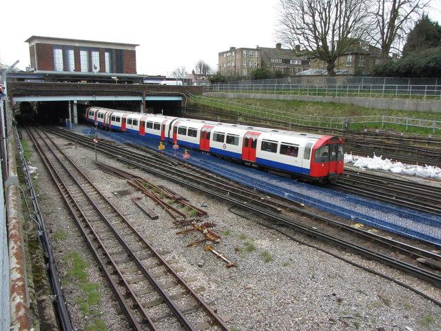 London Underground train near Acton Town