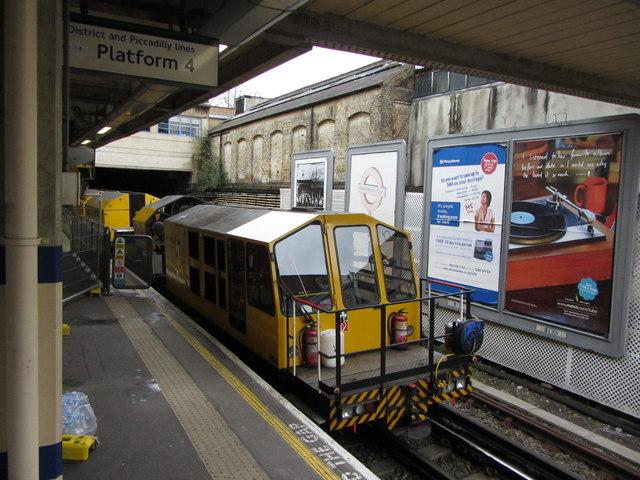 London Underground maintenance vehicle at Acton Town