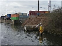 SJ7293 : Manchester Ship Canal beacon 358 by Christine Johnstone