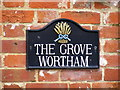 TM0778 : The Grove Wortham sign by Geographer