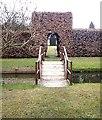 NZ1718 : Footbridge and Beech Hedge by Stanley Howe