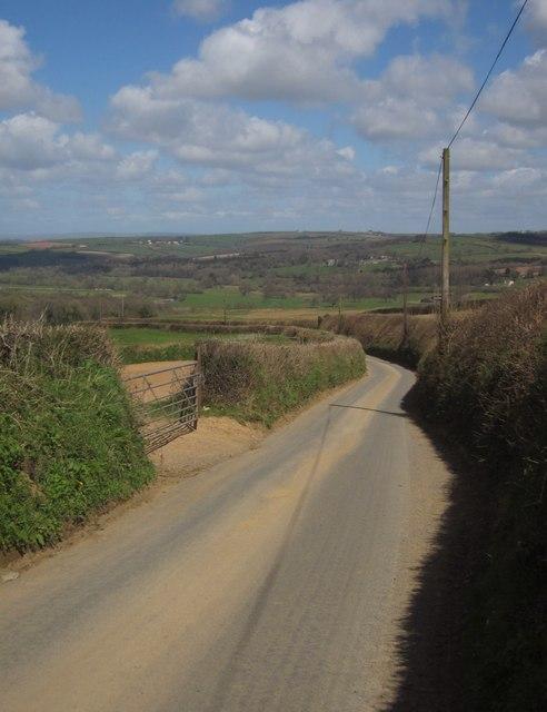 Lane near Kennydown Farm