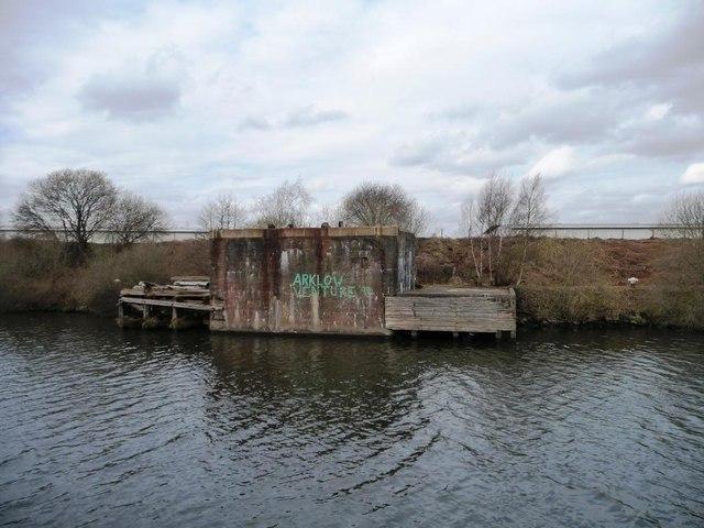 Former north bank wharf, Partington Petroleum Basin