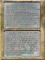SJ5186 : Plaques detailing the Zeppelin Raid by David Dixon