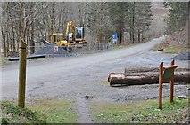 NT2840 : Road and path works, Glentress by Jim Barton