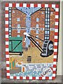 SO8318 : Railway platform art by John M