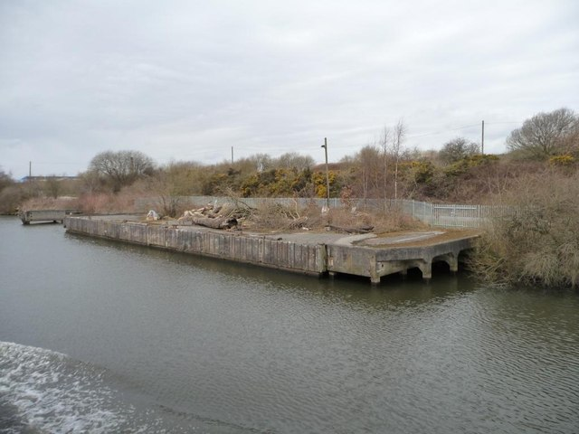 Western end of jetty, west of Thelwall Ferry