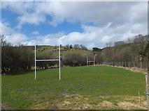 SJ1733 : Playing field at Tregeiriog by John Haynes