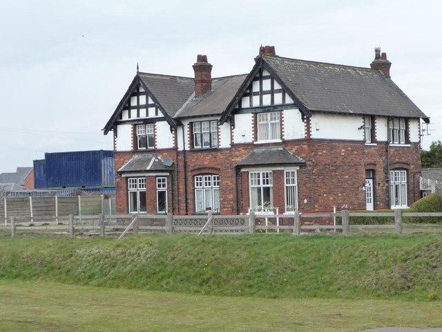 Semi-detached houses at Latchford Locks