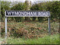 TG1106 : Wymondham Road sign by Adrian Cable