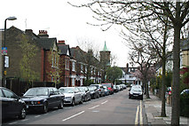 TQ2075 : Mortlake: Howgate Road by Dr Neil Clifton