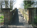 TM4290 : Old bridge over the railway at Beccles station by Evelyn Simak