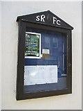 NT4728 : Rugby Club noticeboard by Richard Webb