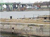 SJ5183 : The Widnes end of the former transporter bridge by Christine Johnstone