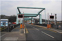 ST1972 : Lock bridges on the Cardiff Bay Barrage by Bill Boaden