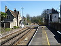 TQ7258 : The level crossing at Aylesford station by Marathon
