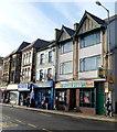 ST0790 : Three Taff Street fast food shops, Pontypridd by Jaggery