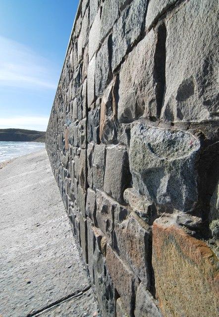 Up close to the sea wall at Aberdaron