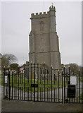 ST3049 : St Andrew's gates by Neil Owen