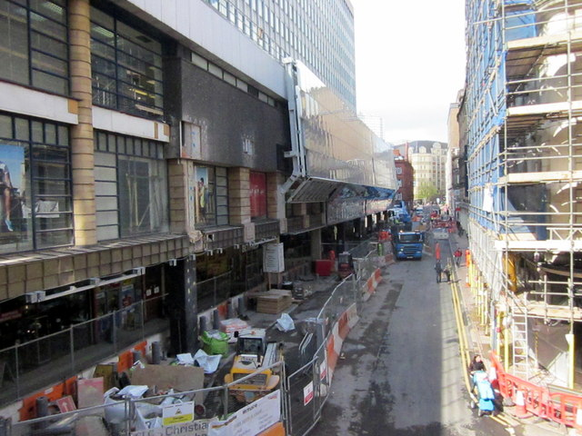 View Along Stephenson Street of New Street Station New Entrance