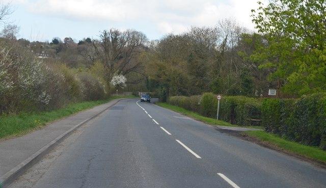 Smarden Road towards Pluckley