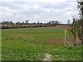 SK7157 : Waymark and wind turbine by Alan Murray-Rust