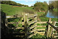 SP7134 : Path towards Mill House by the river by Philip Jeffrey