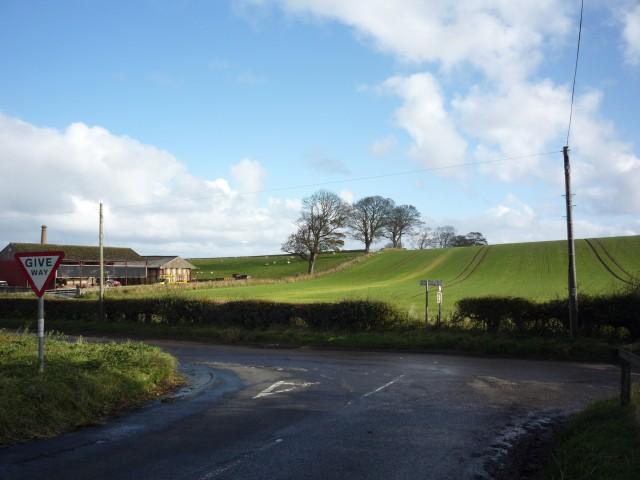 Road junction at Preston