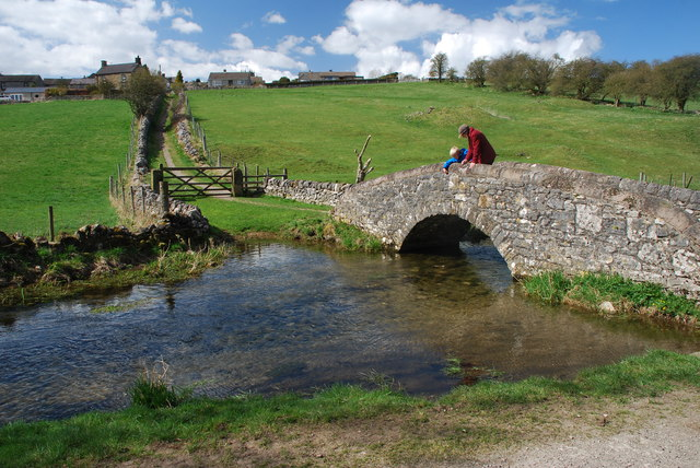 Ford and Packhorse Bridge at Youlgreave
