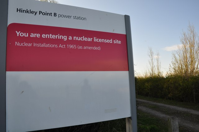 West Somerset : Hinkley Point B Power Station sign